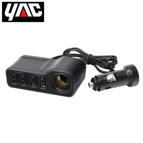 日本YAC 1M延長型四孔USB連接插座
