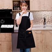 帆布可愛日系時尚女家用男廚房工作服圍裙品牌【邦邦男裝】