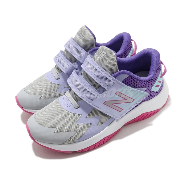 New Balance 慢跑鞋 Rave Run 寬楦頭 灰 紫 童鞋 中童鞋 4-7歲 運動鞋 【ACS】 PTRAVBL1W