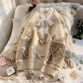 針織外套 新款秋冬很仙的毛衣外套女寬鬆外穿慵懶風牛角扣韓版針織開衫 伊芙莎