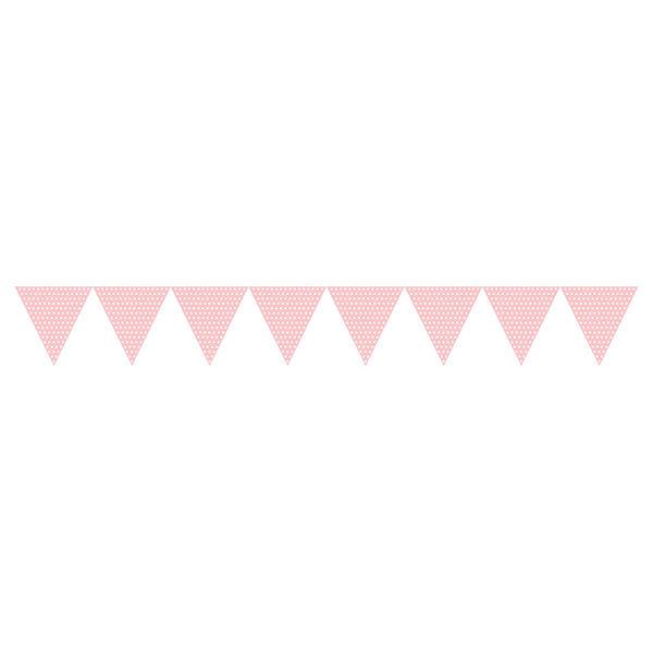 三角旗-甜心粉點點