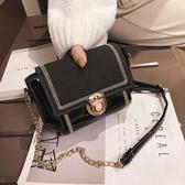 鍊條包 斜背包洋氣小包包女新款新款潮高級感百搭斜背包時尚鍊條包