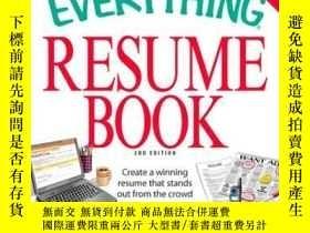 二手書博民逛書店The罕見Everything Resume BookY410016 Nancy Schuman Everyt