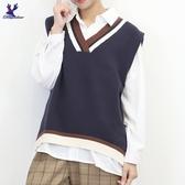 【秋冬新品】American Bluedeer - V領寬鬆針織背心 二色