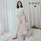 東京著衣【KODZ】知性時尚細肩排釦洋裝-S.M.L(180161)