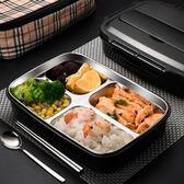 不銹鋼飯盒超長保溫便當餐盒兒童小學生防燙帶蓋分格食堂韓國簡約「輕時光」