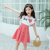 女童夏裝格子洋裝2021新款韓版中大童兒童女孩夏季洋氣公主裙子 幸福第一站