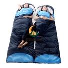 睡袋成人戶外旅行冬季四季保暖室內露營雙人隔臟羽絨棉睡袋 1.5KG【創世紀生活館】