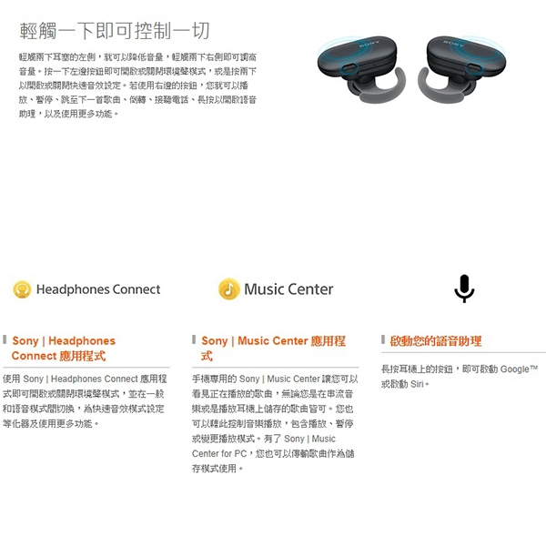 Sony WF-SP900 真無線運動防水耳機 內建4G MP3 公司貨一年保固