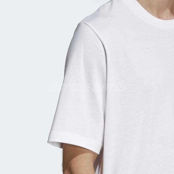 adidas 短袖T恤 Originals Outline Tee 男款 白 黑 經典三葉草元素 【ACS】 DV1562