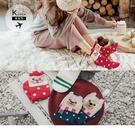 《ZB0768》韓國製。三件組俏皮露耳聖誕樣式中筒襪 OrangeBear
