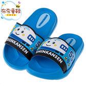 《布布童鞋》三麗鷗新幹線小電車藍色超輕量拖鞋(15~21公分) [ C8B975B ]