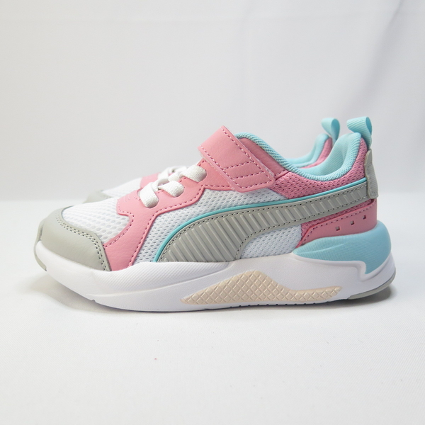 PUMA X-RAY AC PS 中童 魔鬼氈 休閒鞋 37292105 粉x湖水綠【iSport】