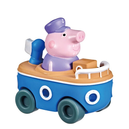 《 Peppa Pig 》HASBRO 粉紅豬小妹 小車車公仔組 - 豬爺爺 / JOYBUS玩具百貨