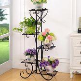 鐵藝花架地面多層花盆架室內外多功能