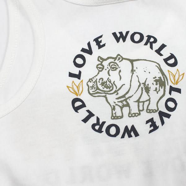 【愛的世界】純棉圓領河馬印圖背心/1歲-台灣製-n1 ★春夏上著 夏出清