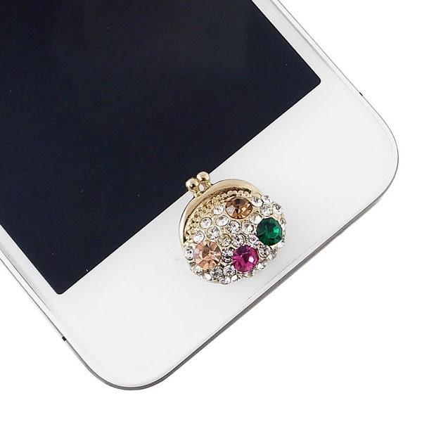 Miravivi iPhone/ iPad/ iPod 水鑽立體系列home鍵貼-復古錢包
