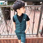 夏季兒童西裝馬甲套裝LVV3674【KIKIKOKO】