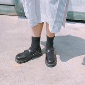 森女娃娃鞋單鞋女日系淺口圓頭交叉帶碎花平底鞋舒適學生鞋女單鞋    初語生活