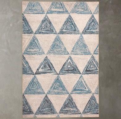 地毯客廳沙發茶几墊 北歐宜家臥室房間床邊毯幾何圖案長方形書房