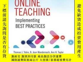 二手書博民逛書店Evaluating罕見Online Teaching: Implementing Best Practices奇
