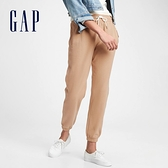 Gap女裝 簡約風格鬆緊針織休閒褲 544841-咖啡色