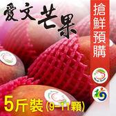 <mangohouse芒果好吃>屏東枋山愛文芒果職人嚴選5斤(9~11顆)  滿4件以上每件最低只要$445