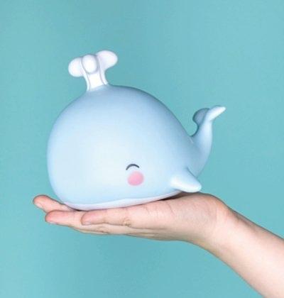 【荷蘭 A little lovely company】療癒小夜燈 - 愛笑小鯨魚#LLWHBU40