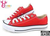 Converse帆布鞋 基本款低筒帆布鞋G9882#紅◆OSOME奧森童鞋/小朋友