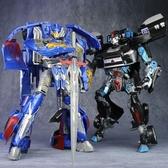 玩具車變形玩具54警車汽車機器人兒童男孩超大號手辦模型 快速出貨