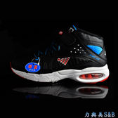 JUMP 童籃球鞋 女籃球鞋 鞋帶設計 腳背單片魔鬼氈設計加強腳背包覆性 黑色鞋面  【5028B】