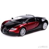 美致MZ合金車模型仿真跑車布加迪威龍玩具車聲光回力汽車模型 PA1400 『pink領袖衣社』