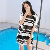 泳衣女比基尼三件套韓國分體小香風小胸性感顯瘦遮肚保守溫泉泳裝   蜜拉貝爾