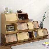 書架書柜落地格架創意置物架多功能組合簡易現代簡約收納架WZ2830 【極致男人】TW