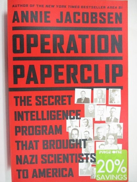 【書寶二手書T1/歷史_EBF】Operation Paperclip_Annie Jacobsen