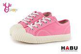 HABU 韓風 餅乾鞋 中童撞色休閒帆布鞋 親子鞋 K7517#粉紅◆OSOME奧森童鞋