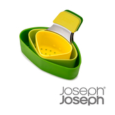 《Joseph Joseph英國創意餐廚》Nset蒸煮濾網3件組(繽紛綠)