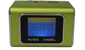 [富廉網] 音樂天使MD-05X  綠色, 含繁體中文字幕,  支援MICRO SD卡 / USB隨身碟, 鋁合金迷你音箱