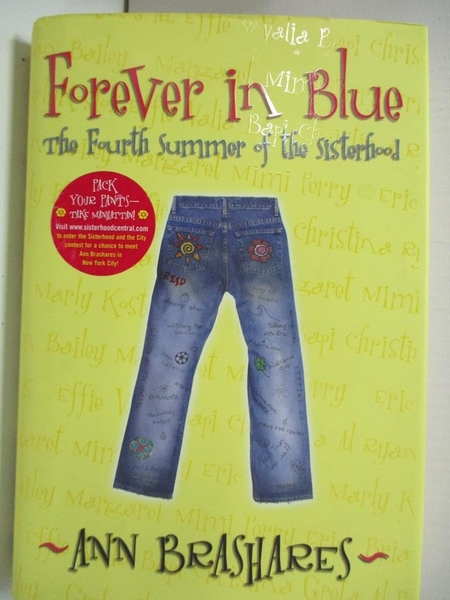 【書寶二手書T5/兒童文學_BW6】Forever in Blue: The Fourth Summer of the Sisterhood_Brashares, Ann