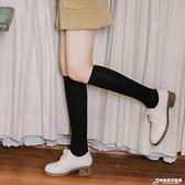 黑色襪子女韓國瘦小腿襪夏季百搭薄款純棉日系棒球運動及膝襪長筒 聖誕節全館免運