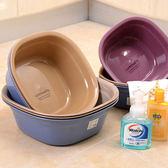 ♚MY COLOR♚方形加厚款臉盆 洗衣 泡腳 嬰兒 兒童 浴室 居家 洗浴 洗菜 蔬果 廚房  (小)【J227】
