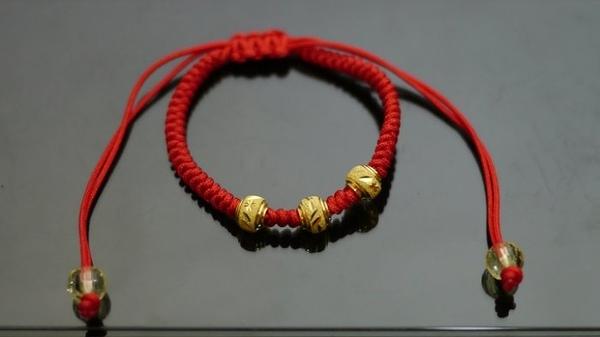 gold 黃金 彌月 金飾 童手鍊 重0.36錢[ gg 018 ]