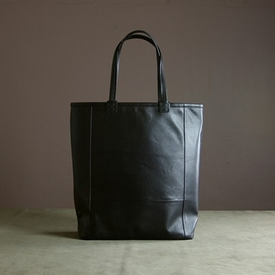 真皮手提包-黑色大容量多隔層羊皮女肩背包73uy4[巴黎精品]
