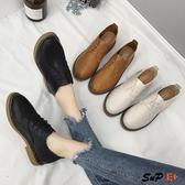 娃娃鞋 英倫 百搭 系軟底 黑色 日系單鞋