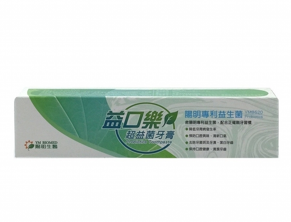 【JC Beauty】 陽明生醫 益口樂超益菌牙膏 120g