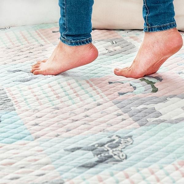 樂嫚妮 防滑地墊 保潔床墊 爬行墊 腳踏墊 絎縫墊 萬用墊 120X190cm