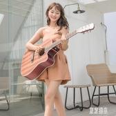 38寸單板初學者民謠木吉他 男女通用自學學生新手練習吉它. zh4521『東京潮流』