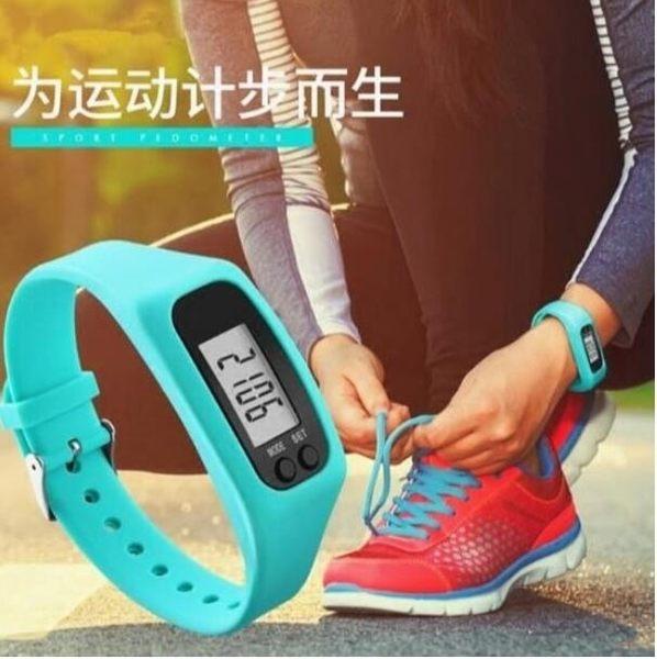 LED智能 計步器手環錶 多功能手錶 無毒矽膠 卡路里計算 里程計錄 路程距離 運動 現貨