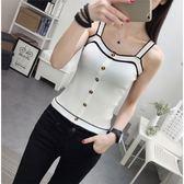 80-120斤穿夏季性感小背心女吊帶外穿學生韓版短款無袖冰絲打底衫