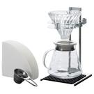 金時代書香咖啡 HARIO V60玻璃濾杯工業風手沖組 VPOS-1506-SV